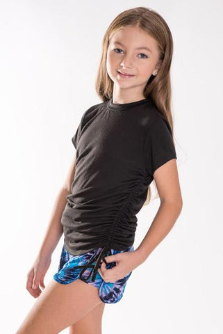 Tweenstyle by Stoopher Blue Tie Dye Shorts