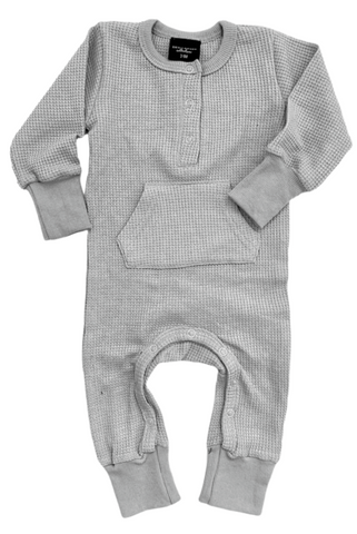 Little Bipsy Thermal L/S Romper - Grey