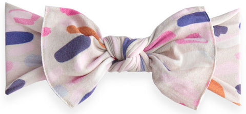 Baby Bling Paintbrush Printed Knot Headband - Basically Bows & Bowties