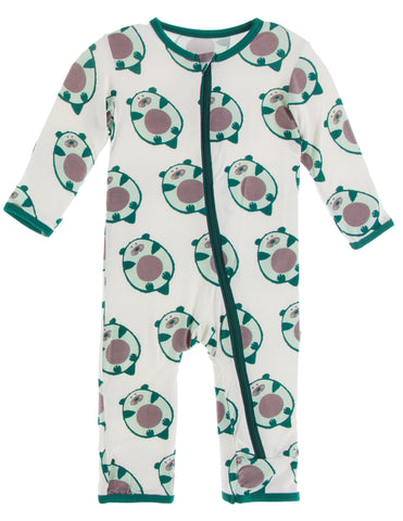 KicKee Pants Natural Ottercado Coverall with Zipper