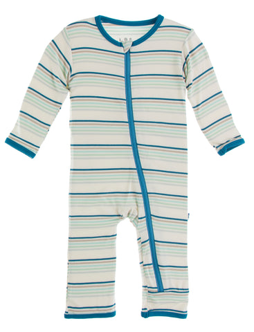 KicKee Pants Culinary Arts Stripe Coverall with Zipper