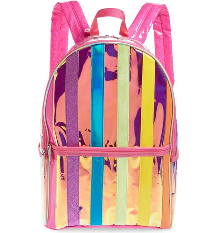 Iscream Iridescent Rainbow Stripe Backpack Basically Bows & Bowties