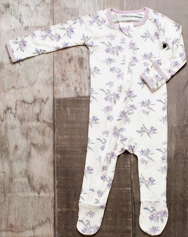 Bestaroo Lavender Lily's Footie - Basically Bows & Bowties