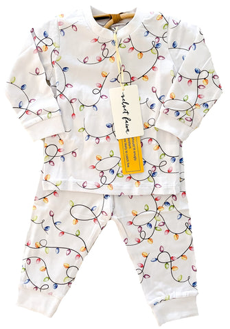 Velvet Fawn Christmas Light Two Piece Pajama Set