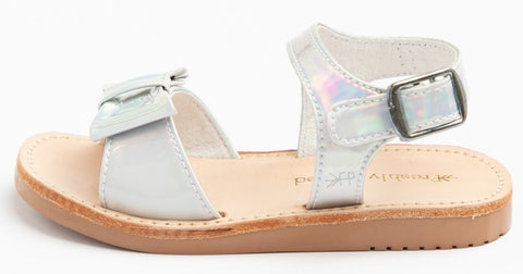 Freshly Picked Holographic Bayview Sandals Basically Bows & Bowties