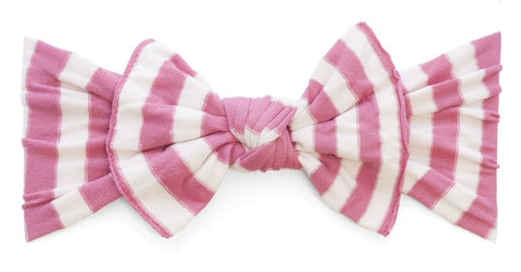 Baby Bling Hot Pink Stripe Patterned Knot Headband - Basically Bows & Bowties