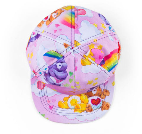 Baby Bling Care Bear Cap with Ears-Pink Rainbow - Basically Bows & Bowties