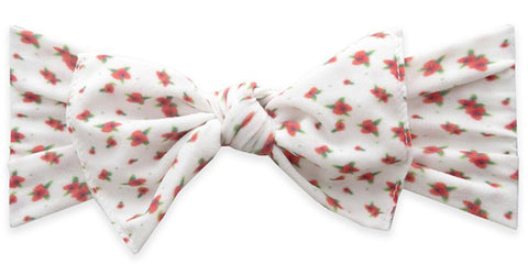 Baby Bling White Ditsy Floral Printed Knot Headband - Basically Bows & Bowties