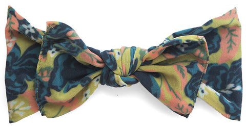 Baby Bling Fall Vintage Rose Printed Knot Headband - Basically Bows & Bowties