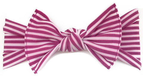 Baby Bling Hot Pink Stripe Printed Knot Headband - Basically Bows & Bowties
