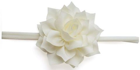 Baby Bling Poinsettia Skinny Headband-Ivory - Basically Bows & Bowties
