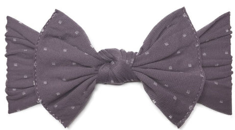 Baby Bling Lilac Dot Patterned Knot Headband - Basically Bows & Bowties
