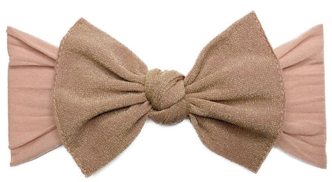 Baby Bling Metallic Knot Headband-Rose Gold - Basically Bows & Bowties
