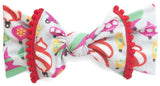 Baby Bling Ornament w/Pom Trimmed Printed Knot Headband - Basically Bows & Bowties