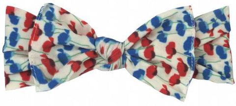 Baby Bling Poppy Printed Knot Headband - Basically Bows & Bowties