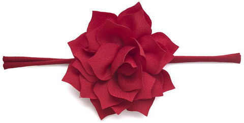 Baby Bling Poinsettia Skinny Headband-Cherry - Basically Bows & Bowties