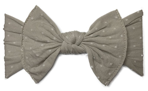 Baby Bling Taupe Dot Patterned Knot Headband - Basically Bows & Bowties