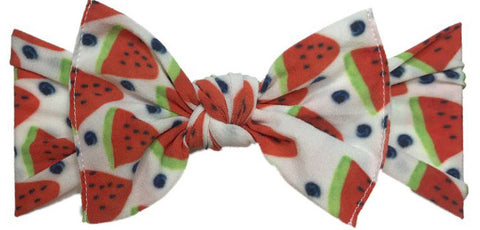 Baby Bling Watermelon Berry Printed Knot Headband - Basically Bows & Bowties