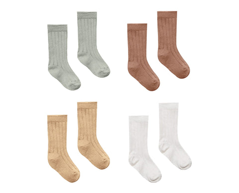 Quincy Mae Sock Set - Sage / Clay / Honey / Ivory