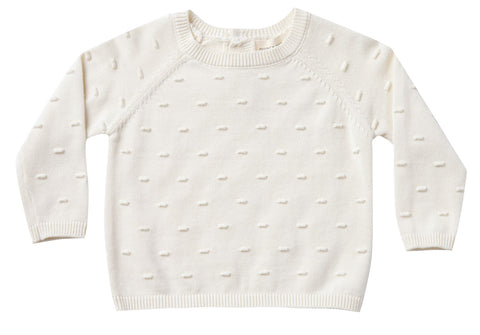 Quincy Mae Ivory Bailey Knit Sweater