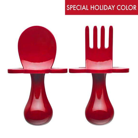 Poppy Red Grabease Fork & Spoon Set
