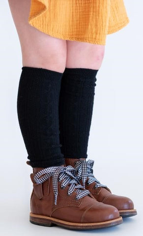 Little Stocking Co Black Knee High Socks Basically Bows & Bowties