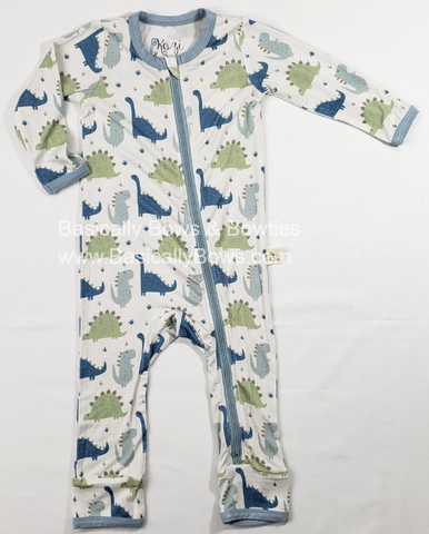 Kozi & Co Blue Dino Coverall