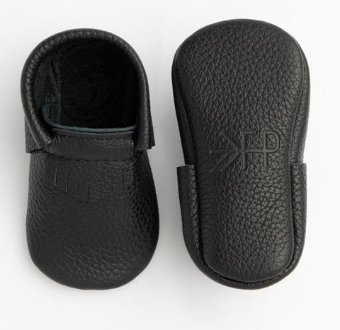 Freshly Picked Carbon Black First Pair Soft Sole Moccasins