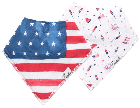 Copper Pearl Patriot Bandana Bib Set Basically Bows & Bowties