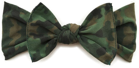 Baby Bling Camo Printed Knot Headband - Basically Bows & Bowties