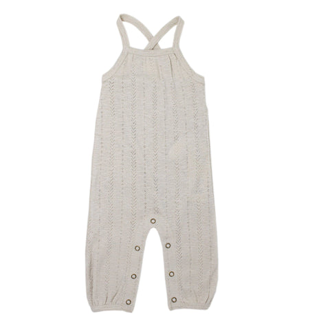 L'ovedbaby Pointelle Romper - Stone