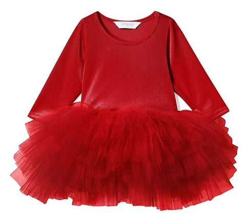 iloveplum O.M.G. Rosie Red Velvet Tutu Dress