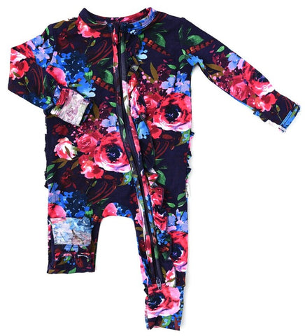 Gigi and Max Gabriella Floral Ruffle Zip One Piece