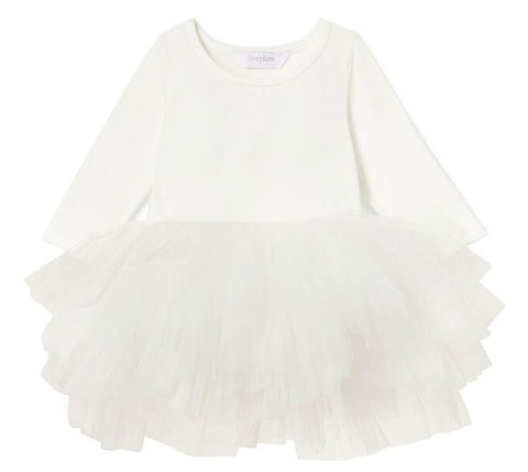 iloveplum O.M.G. Lucy White Velvet Tutu Dress