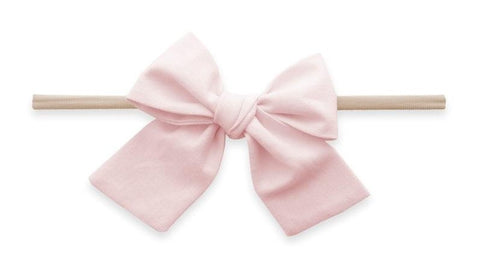 Baby Bling Petal Big Cotton Bow Skinny Headband
