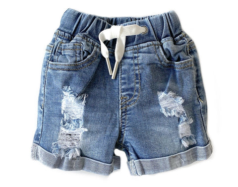 Little Bipsy Distressed Denim Shorts