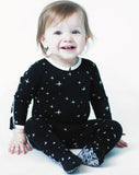 Peregrine Kidswear Black Stars Footie - Basically Bows & Bowties