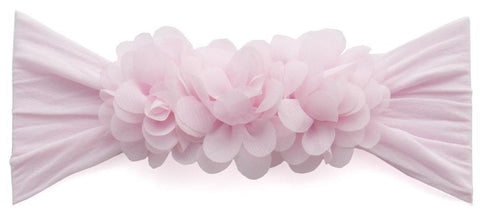Baby Bling Chiffon Ruffle Pink Headband - Basically Bows & Bowties