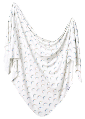 Copper Pearl Daydream Knit Swaddle Blanket Basically Bows & Bowties