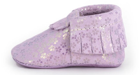 Freshly Picked Lilac Blossom Moccasins - Basically Bows & Bowties