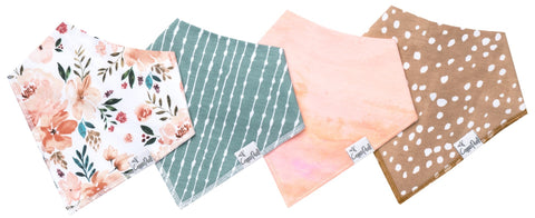 Copper Pearl Autumn Bandana Bib Set Basically Bows & Bowties
