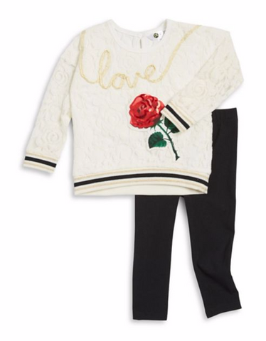 Petit Lem PL Kids Long Sleeve Love Top & Legging Set
