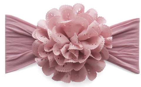 Baby Bling Eyelet Flower-Mauve - Basically Bows & Bowties