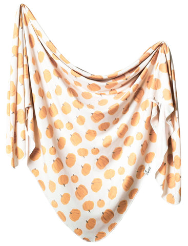 Copper Pearl Patch Knit Swaddle Blanket