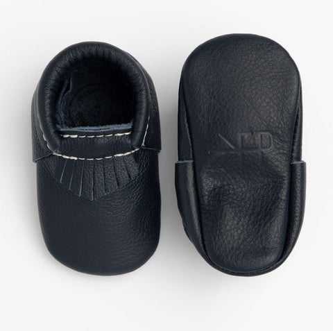 Freshly Picked Navy City Soft Sole Moccasins