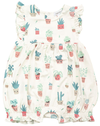 Angel Dear House Plant Ruffle Bib Shortie Romper