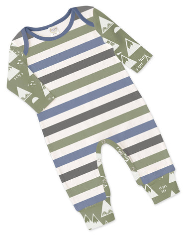 Tesa Babe Green & Blue Romper - Basically Bows & Bowties