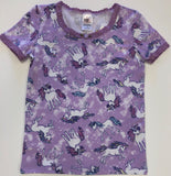 Esme Lavender Unicorn S/S Top & Cropped Legging Set - Basically Bows & Bowties