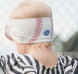 Baby Bling Home Run Baseball Printed Knot Headband - Basically Bows & Bowties