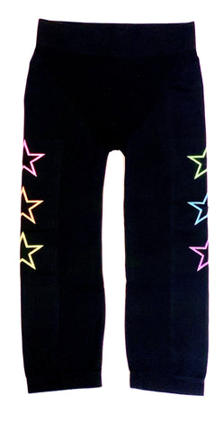Malibu Sugar Black with Glitter Stars Leggings